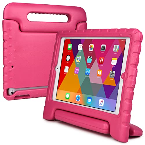Cooper Cases(TM) Dynamo iPad Mini Kids Case in Pink + Free Screen Protector (Lightweight, Shock-Absorbing, Child-Safe EVA Foam, Built-in Handle and Viewing Stand)