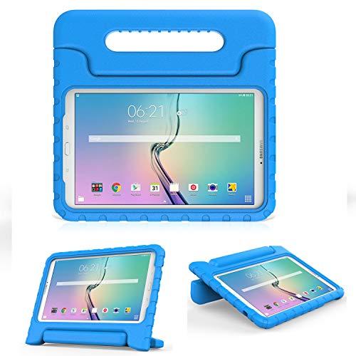 MoKo Tab E 9.6 Hülle Case - MoKo Superleicht EVA Stoßfest Kinderfreundlich Kinder Schutzhülle mit umwandelbarer Handgriff Handle und Standfunktion für Samsung Galaxy Tab E 9,6 Zoll Tablet-PC, Blau