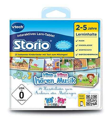 VTech 80-233304 - Lernspiel Nino und Nina hören Musik (Storio 2, Storio 3S)