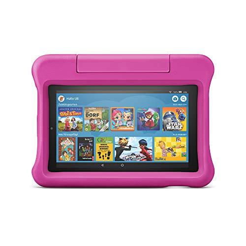 Fire 7 Kids Edition-Tablet, 17,7 cm (7 Zoll) Display, 16 GB, pinke kindgerechte Hülle