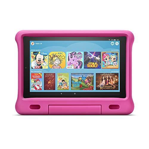 Das neue Fire HD 10 Kids Edition-Tablet, 25,65 cm (10,1 Zoll) 1080p Full HD-Display, 32 GB, pinke kindgerechte Hülle